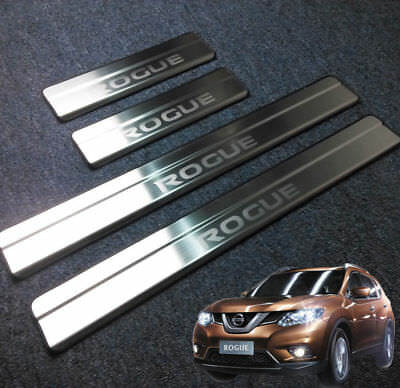 4PCS Car Stainless Stee door Sill Scuff Plate for Nissan ROGUE 2014-2018