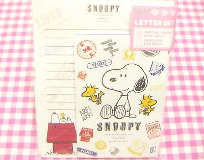Sun-Star  Peanuts Snoopy Woodstock Charlie Brown Letter Set / Japan Stationery