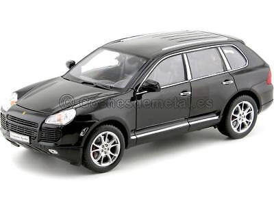 1:18 Welly 12529bk Porsche CAYENNE TURBO 2006 Negro Metalizado