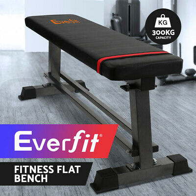 Everfit Adjustable Flat Multi-Station Weight Bench Home Gym Squat Press Benches