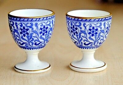 Two Antique 19th Century Victorian Minton Aesthetic Period Egg Cups Circa 1874