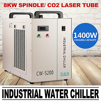 USA S&A 110V 60Hz CW-5200DG Water Chiller for 130W/150W CO2 Laser Tube