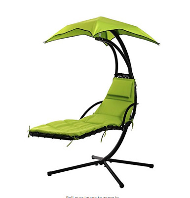 """Chair Hanging Chaise Lounger Hammock Swing Stand Canopy Arc Porch Air Us Chair """""""