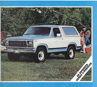 1980 Ford Bronco  Factory Original Sales Brochure 28 Pages