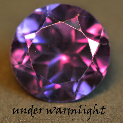 4.90ct.AWESOME RUSSIAN COLOR CHANGE ALEXANDRITE ROUND GEMSTONE