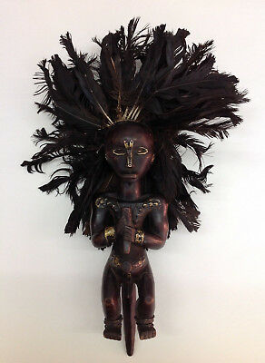 fine old Fang Figure Gabon 21 Inch old Germany Collection