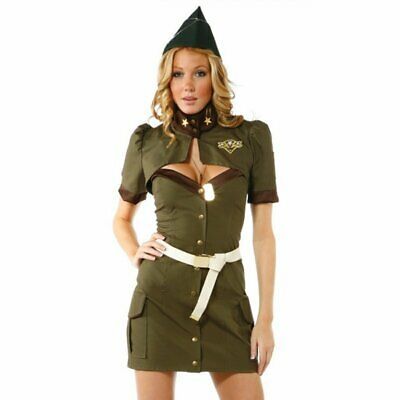 woman's Sexy Santa and Sultry Soldier Dress Mini Skirt Cute custome Party