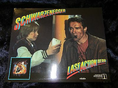 Last Action Hero lobby cards - Arnold Schwarzenegger - mini set of 8