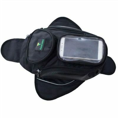 Motorcycle Oil Fuel Tank Bag Saddle Bags Bigger Window Moto Magnetic Bag Outdoor