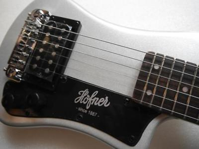 New Hofner Shorty Silver Sparkle Electric Guitar With Gigbag Case Hct-Sh-Sbt