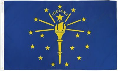3x5 Indiana Flag 3' x 5' State Banner IN Indoor Outdoor