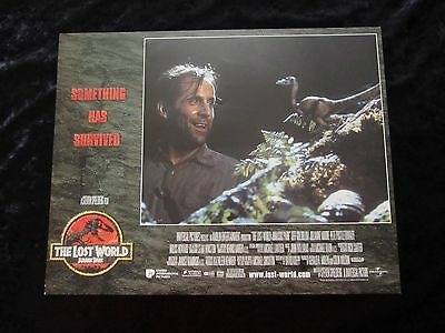 Jurassic park lobby card # 1 - Lost World, Jeff Goldblum, Julianne Moore