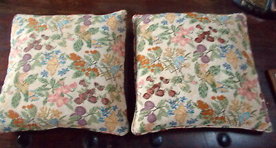 Pair of Tapestry Style Cushion Covers in Subtle Autumnal Shades