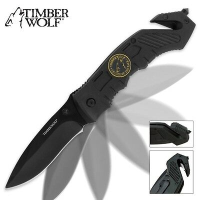 Timber Wolf Assisted Open Rescue Tactical Folding Pocket Knife TW203