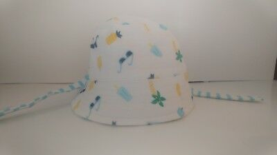 NWT Gymboree PRETTY PANSY Floral Hat Chinstrap Lined