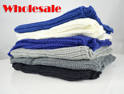 Wholesale Lot of Womens Pashmina Fashion Scarves - Assorted Solid Colors in Bulk