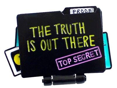 The X Files The Truth Is Out There Top Secret Files  Metal Logo Openable Pin