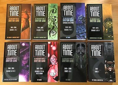 New About Time The Unauthorized Guide To Doctor Who Complete Set All 8 Books 1-8