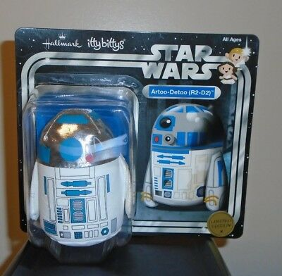 Hallmark Itty Bitty Bittys ~ R2-D2 on Card LTd. Edit. (Star Wars Exclusive) NEW