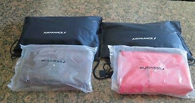 4 ~ AIR FRANCE Airline First Class/Business Class Amenity Bags