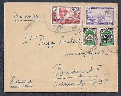 1948 Algeria Air Mail Cover - Sidi-Bel-Abbes to Budapest, Hungary