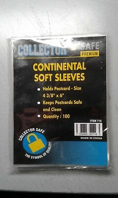 Collector Safe Continental Soft Sleeves (1 Pack of 100)