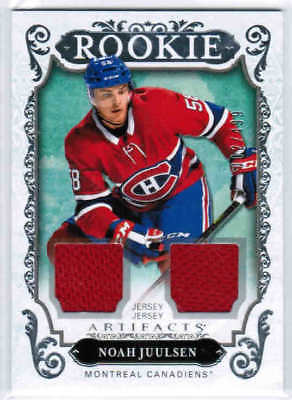 18/19 2018 UD ARTIFACTS HOCKEY ROOKIE DUAL JERSEY CARDS 161-180 U-Pick From List
