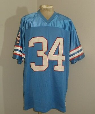 5a95bd924 Mitchell   Ness Houston OILERS Earl CAMPBELL  34 SEWN STITCHED Jersey Mens  54