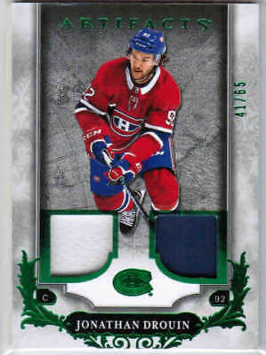 18/19 2018 UD ARTIFACTS HOCKEY JERSEY/PATCH EMERALD CARDS 1-100 U-Pick From List