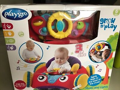 NEW BABY TOYS  Playgro Music & Lights Comfy Car - FREE SHIPPING