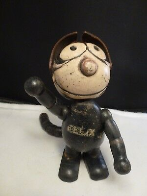 "Splendid 7"" Antique Wood Wooden Felix The Cat Doll! c1922"