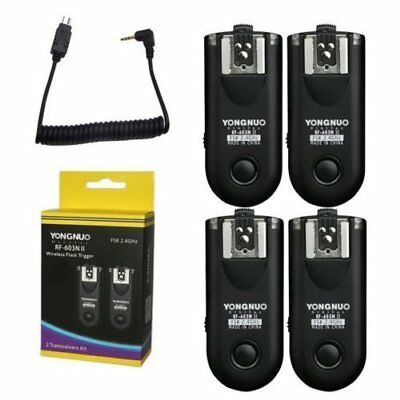 Yongnuo RF-603 II N3 Wireless Flash Trigger 4PCS Transceiver For Nikon Camera US