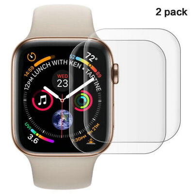 2Pack For Apple Watch Series 4 40MM/44MM 9H HALF Tempered Glass Screen Protector