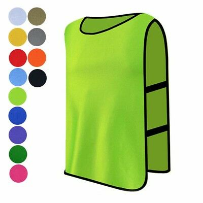 Sports Training Bibs Vests Tops Basketball Netball Cricket Football Soccer Rugby