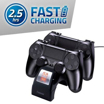 Dual Stand Fast Charging Station Charger Dock For Sony PS4 Dualshock Controller