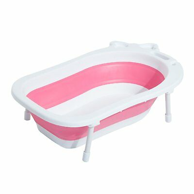 30L Baby Bath Tub Foldable Toddler Kids Infant Wash Play Plastic Red