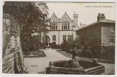 Shropshire postcard - Castle Grounds, Oswestry - ( A72)