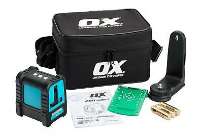 OX Tools 30m Green Cross Line Self Levelling Site Laser Level + Case, OX-P502901