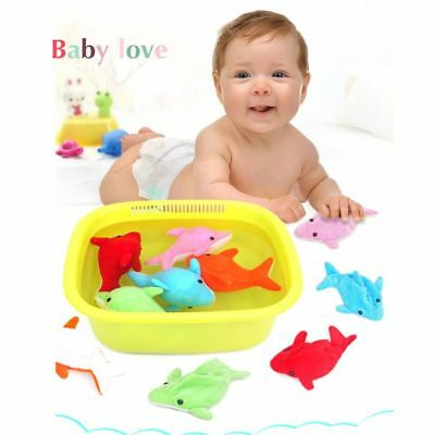 Kid Novelty Absorbs Water Dolphin Plush Doll Toy Bath Toy Stuffed Baby Toys Doll