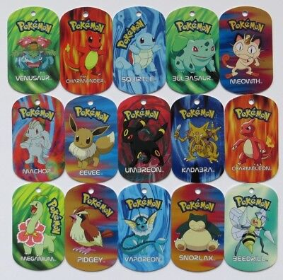 Pokemon METAL TAGS (#001-199) (Select your choice)
