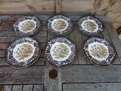 Palissy Royal Worcester Game Series Grouse 6 x sideplates.