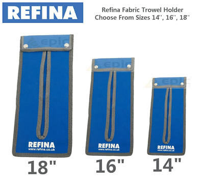 "REFINA FABRIC Plastering/Finishing Trowel Wallet Holder Pouch, Sizes 14"" 16"" 18"""
