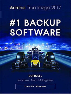 Acronis True Image 2017, PC/Mac, Dauerlizenz für 1 Computer, Download