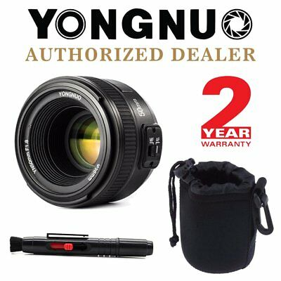 Yongnuo YN 50mm F1.8 Auto Focus Fixed Prime Lens for Nikon DSLR + Pen & Pouch US