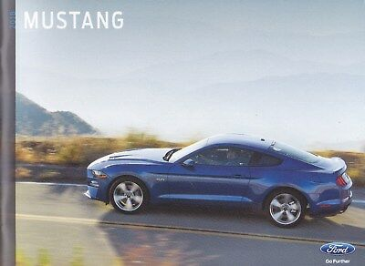 2018 Ford Mustang  Factory Original   Sales Brochure   36 Pages New