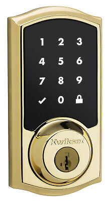 Kwikset SmartCode Single Cylinder Electronic Deadbolt featuring Smartkey