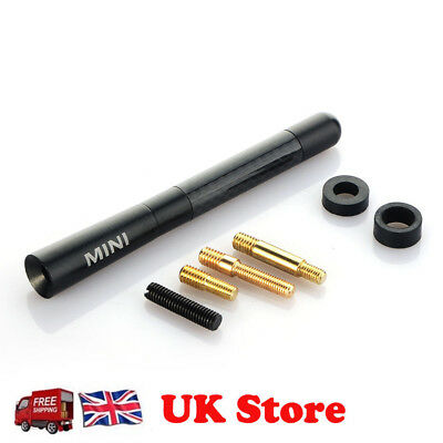 Car Bee-Sting Short Stubby Black Carbon Fibre Ariel Aerial Arial Mast Antenna Uk