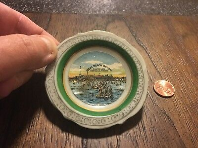 VTG 50's Ideal Beach Resort Shafer Lake Monticello Indiana 3 Inch Plate