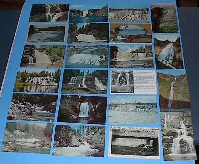 VINTAGE POSTCARD LOT of 53 MISC STATES WATER FALLS POSTCARDS POSTED & UN-POSTED