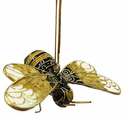 Cloisonne Bumble Bee Metal Christmas Tree Ornament Bug Insect Bumblebee New